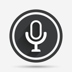 Microphone icon. Speaker symbol. Live music sign.