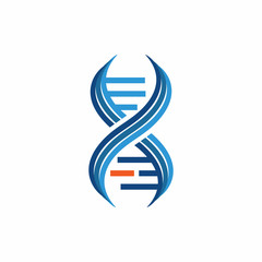 DNA Helix - Vector Logo Icon