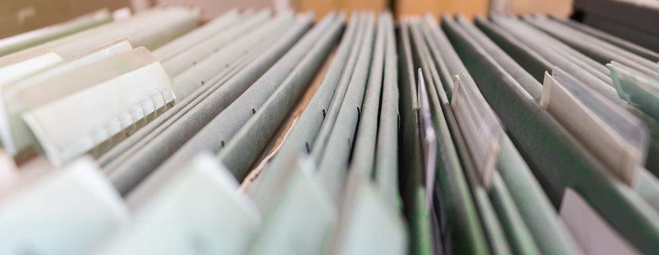 blurred file folder
