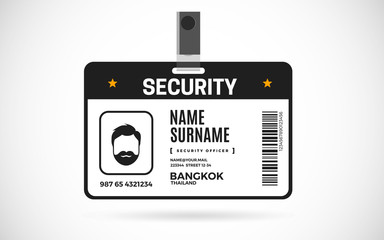 Security id card set vector design illustration