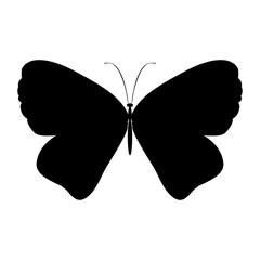 Black silhouette butterfly