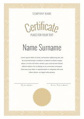 Certificate and diploma template.