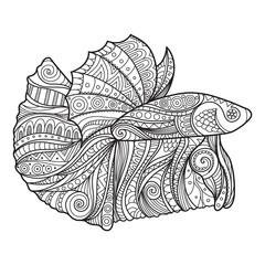 Betta Fish Zenart Stylized