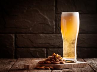 Glass of light beer