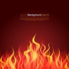 Inferno Background fire flame vector. Burning template.