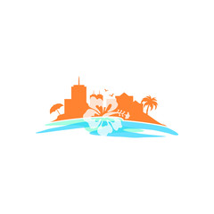 Hawaii - Vector Logo Icon