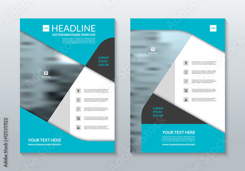 Blue Annual Report Brochure Layout Template A Size Front And - Brochure layout template