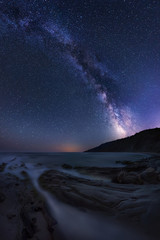 Milky Way over the sea /