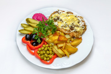 plate of tasty appetizing food