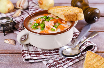 Fish soup with vegetables