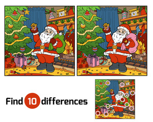Find differences for children, Santa Claus