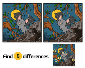 Find the differences, Vampire bat and background
