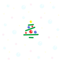 Easy Christmas trees decorated with balls