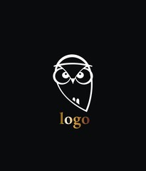 Business corporate owl logo design vector