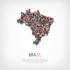 people map country brazil vector