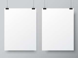 Two White Poster Templates