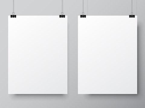 Two White Poster Templates