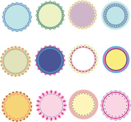 sweet color labels set,vector