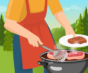 Cooking Barbecue Concept