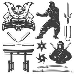 Combat Samurai Elements Set