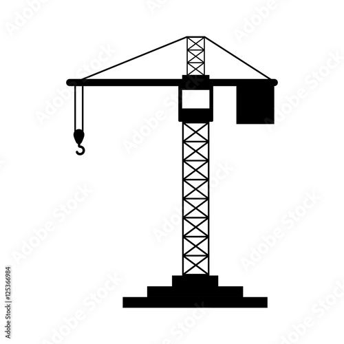 """black silhouette construction tower crane vector ..."