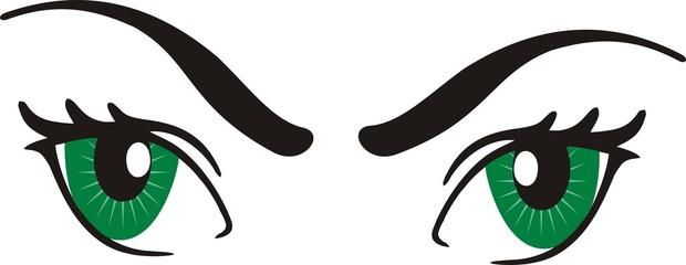 Green eyes design