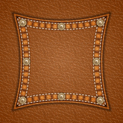 Leather square patch