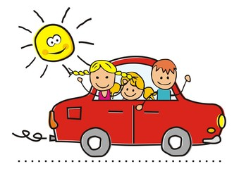 car and children