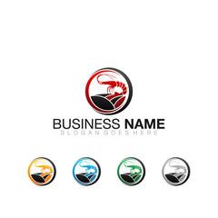Shrimp Farm - Vector Logo Icon