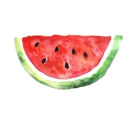 Watermelon slice. Watercolors