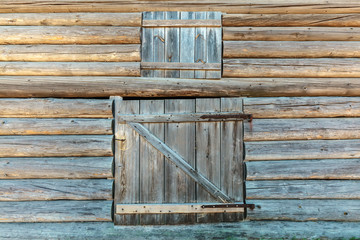 Old weathered barn doors