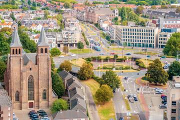Aerial view of the Dutch city of Arnhem