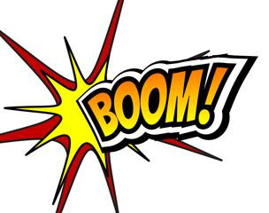 Boom Comic Speech Bubble, Cartoon. Pop art Background Vector Illustration