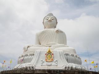White Big Buddha in phuket Thailand