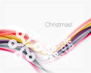 Christmas and New Year business wave template