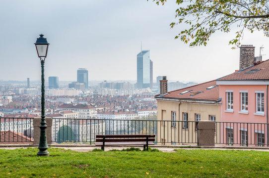 Vue générale de Lyon depuis la Croix Rousse