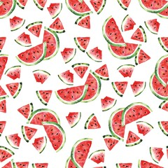 Watermelon pattern. Seamless pattern