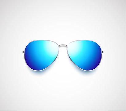 Glossy vector aviator sunglasses design