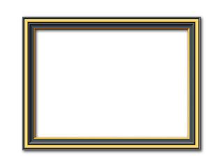 Schwarz goldener Vektor Bilderrahmen vintage