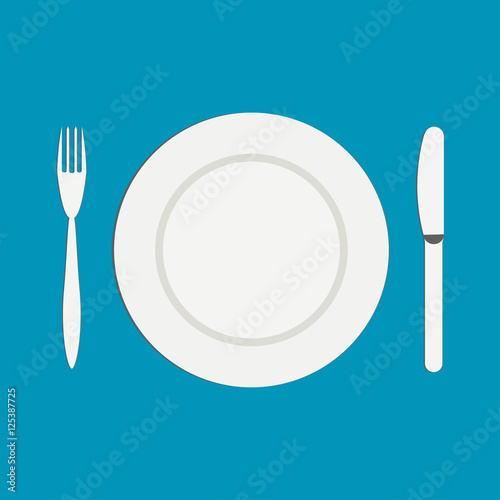 Near Empty Plate Of Food