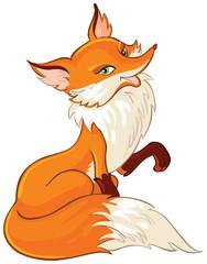 Very cute fox cartoon