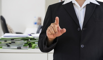 abstract businessman point to you for hiring job