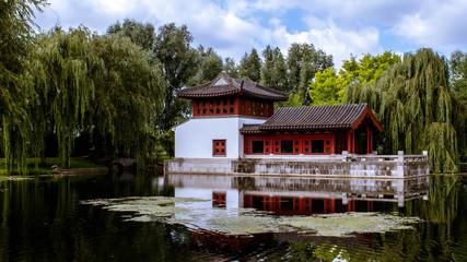 Chienesiches Haus am Teich