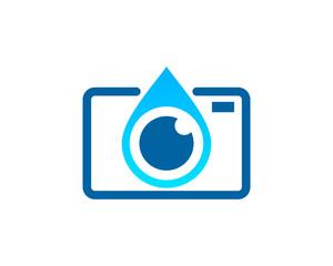 Water Camera Logo Design Template Element
