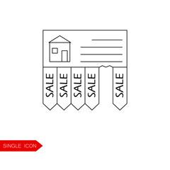 Buy home vector icon