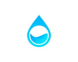 Pure Water Logo Design Template Element