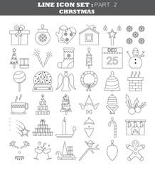 Christmas vector icon set.