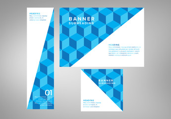 Geometric Web Banners Layout 1
