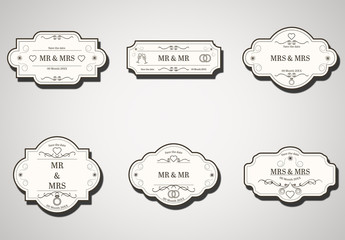 Wedding Labels Layout