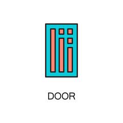 Door line icon.
